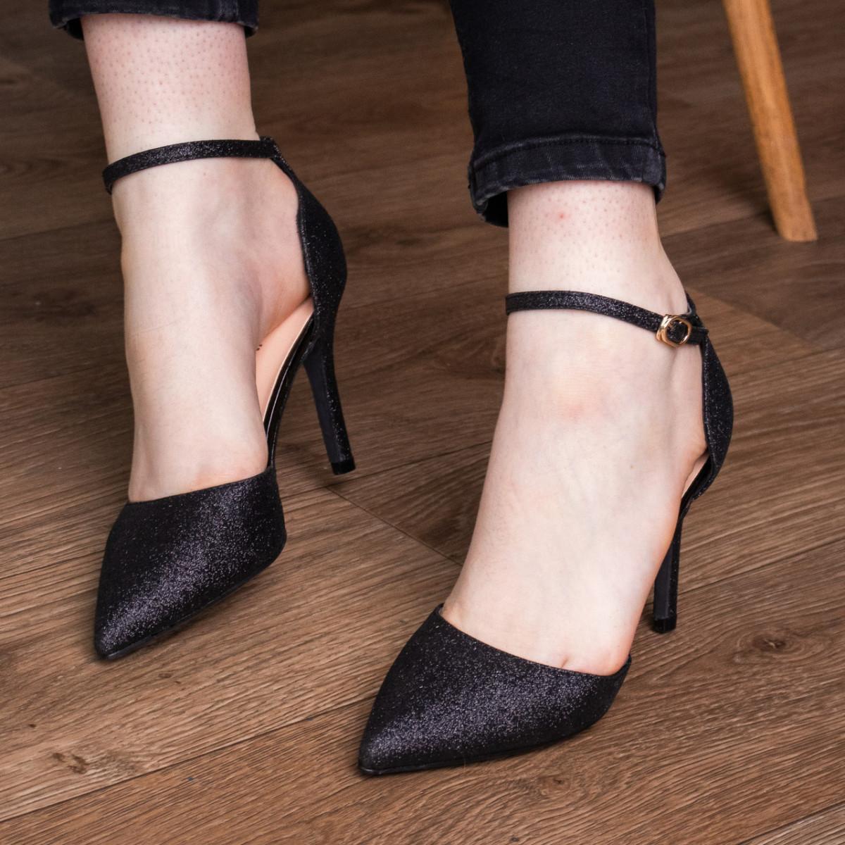 Туфли женские Fashion Quana 2612 36 размер 23,5 см Черный