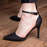 Туфли женские Fashion Quana 2612 36 размер 23,5 см Черный, фото 3
