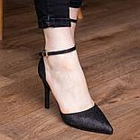 Туфли женские Fashion Quana 2612 36 размер 23,5 см Черный, фото 6