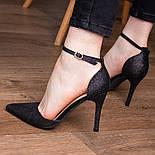 Туфли женские Fashion Quana 2612 36 размер 23,5 см Черный, фото 7