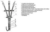 Муфта кабельная 3КНТп-1(25-50), 4КНТп-1(25-50), концевая термоусаживаемая кабельная муфта наружной установки.