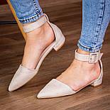 Туфлі жіночі Fashion Zeke 2438 36 розмір, 23,5 см Бежевий, фото 4