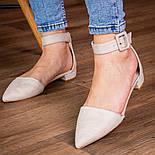 Туфлі жіночі Fashion Zeke 2438 36 розмір, 23,5 см Бежевий, фото 5