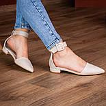 Туфлі жіночі Fashion Zeke 2438 36 розмір, 23,5 см Бежевий, фото 6