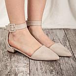 Туфлі жіночі Fashion Zeke 2438 36 розмір, 23,5 см Бежевий, фото 7