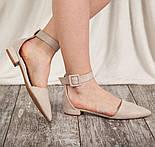 Туфлі жіночі Fashion Zeke 2438 36 розмір, 23,5 см Бежевий, фото 10