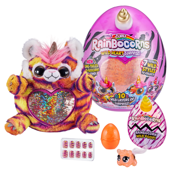 ZURU М'яка іграшка-сюрприз і слайм Rainbocorns Wild heart Реінбокорн-G S3 (9215G)