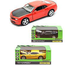 Машинка Шевроле Камаро СС коллекционная модель Chevrolet Camaro SS металлическая, 1:32, (желтая, красная,
