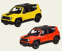 Машинка Джип Ренегат Трейлхок коллекционная модель JEEP RENEGADE TRAILHAWK металлическая, 1:24, (желтый,