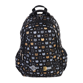 Рюкзак школьный ST.RIGHT BP26 Prestige Cats 650 г 39x27x17 см 20 л Черный