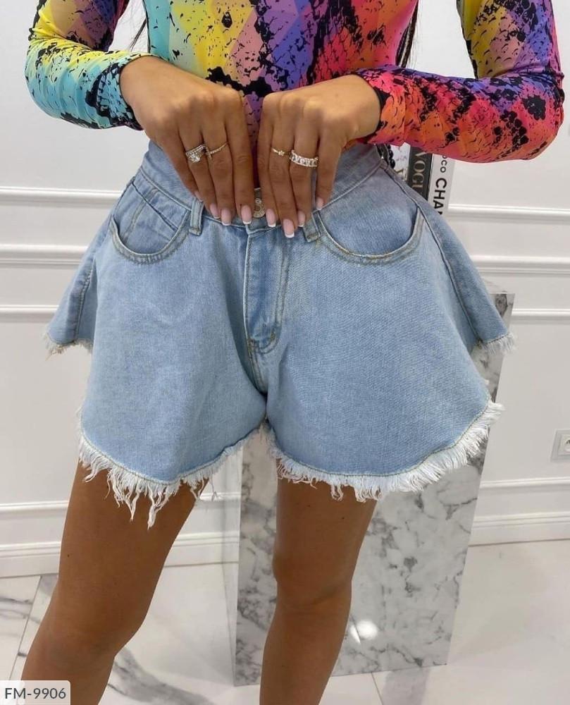 Жіночі Шорти-кльош джинсові 25, 26, 28, 30