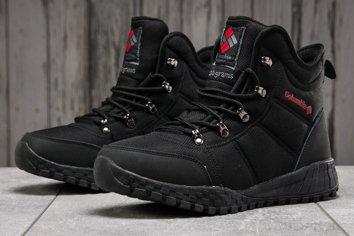 Зимові чоловічі кросівки 31232, Columbia Waterproof, чорні, [ 42 ] р. 42-27,5 див.