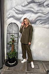 Костюм женский брюки+рубашка в расцветках 44615