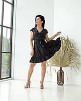 """Красивое платье """"359"""", черное, размеры 44,46,48,50"""