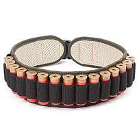 Патронташ комбинированный с эластичными карманами под 25 патронов, 12, 16, 20 калибра