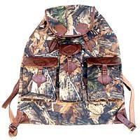 Рюкзак охотника большой с кожанными клапанами и шлеями на 50 л.