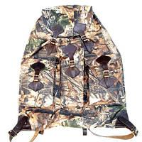 Рюкзак охотника большой, плоский с кожаными шлеями на 50 л.