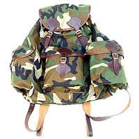 Рюкзак охотника большой, объемный с кожаными шлеями на 50 л.