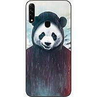 Силиконовый чехол для OPPO A31 с картинкой Панда в капюшоне