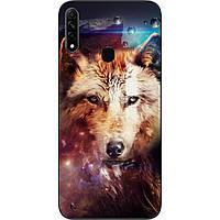 Силиконовый чехол для OPPO A31 с картинкой Космический волк