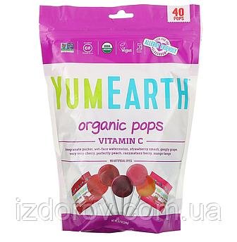 YumEarth, Органические леденцы с Витамином C, ассорти, 40 леденцов, 241 г