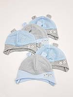 Летние детские шапочки в сеточку с ушками для мальчиков, р. 36-38, Польша (Ala Baby), фото 1