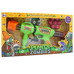 Автомат помповый с мягкими шарами Plants vs Zombies