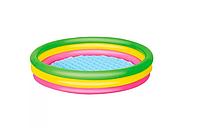 Детский надувной бассейн BW 51104 с надувным дном
