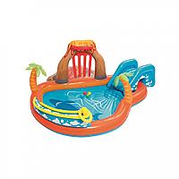 """Детский надувной бассейн """"Лагуна"""" BW 53069 с горкой"""