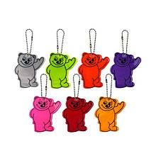 Брелок светоотражающий медведь Flickers / фликер на рюкзак сумку самокат