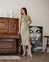 """Модное платье """"360"""", зеленое, размеры 44,46,48,50,52."""