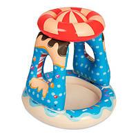 Детский надувной бассейн BW 52270 с навесом