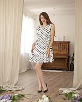 """Красивое платье, лен """"315"""", белое, размеры 38,40,42,44,46,48."""