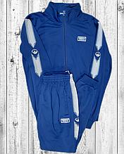 Мужской спортивный костюм Adidas синий трикотажный
