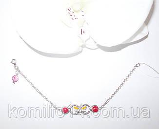 Детский серебряный браслет с эмалью, фото 2