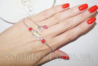 Детский серебряный браслет с эмалью, фото 3