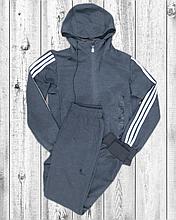 Чоловічий спортивний костюм Adidas сірий трикотажний