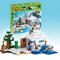 Конструктор Майнкрафт  Снежное укрытие 10391(79145) Bela  аналог Лего  327дет.
