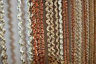 Нитяная штора (кисея) Пружинки Беж, фото 1