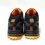 44 р. Літні чоловічі кросівки Adidass (репліка) сітка Чорні Остання пара, фото 7
