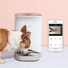 Автоматична розумна годівниця з камерою PetWant F1-З для котів і собак