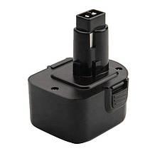 Аккумулятор для шуруповерта DeWalt DC9071, DE9037, DE9071, DW9072, DE9501, DWCB12, A9252 1.5Ah 12 Вольт, 12V