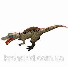Большой динозавр Спинозавр Spinosaurus резиновый детализированный со звуковыми эффектами 28*63*13,5 см, фото 3