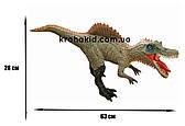 Большой динозавр Спинозавр Spinosaurus резиновый детализированный со звуковыми эффектами 28*63*13,5 см