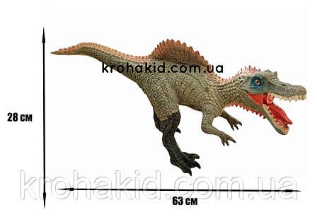 Большой динозавр Спинозавр Spinosaurus резиновый детализированный со звуковыми эффектами 28*63*13,5 см, фото 2
