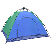 Палатка автоматическая 4 местная 210х210х140 см / Палатка туристическая Smart Camp Синяя