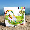 Детский надувной игровой центр-бассейн Intex «Мой сад» 290x180x104 см, 450 литра,с надувными игрушками,