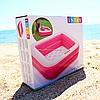 Надувной бассейн Intex Розовый 85х85х23см 60л. Для отдыха на пляже 57100