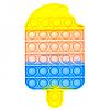 Развивающая сенсорная игрушка антистресс Pop it (Поп ит) (мороженое)