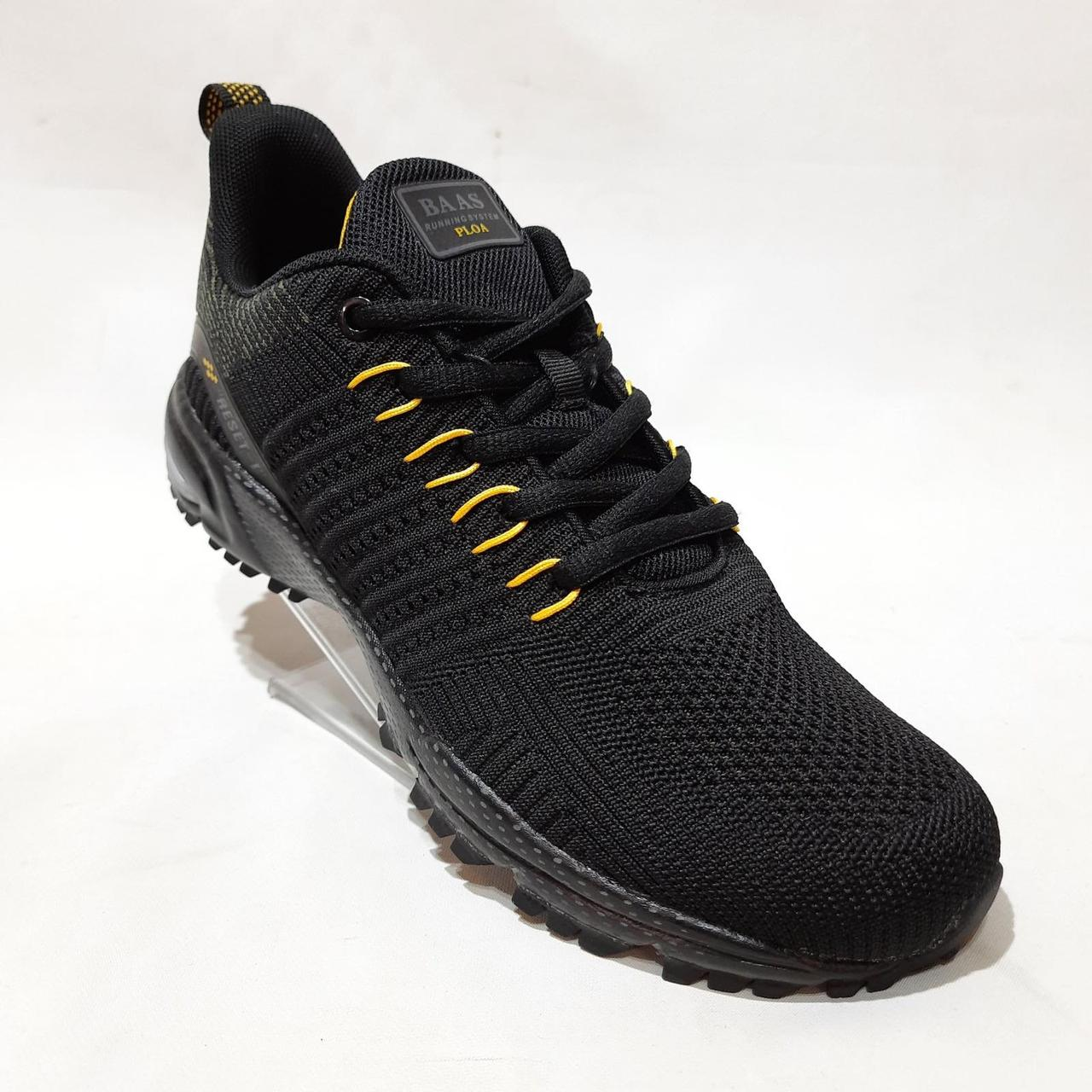 Летние мужские кроссовки Bass (Бас) легкие из текстиля Черные